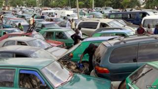 Fuel queue in Lagos
