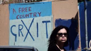 Anti-EU graffiti in Athens