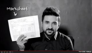 "Screenshot from Indian comedian Vir Das' ""On Your Marks"" YouTube video"