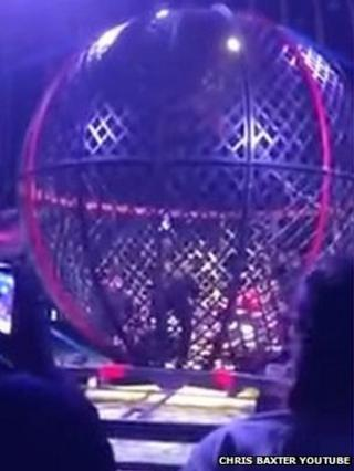 Shot of spherical cage