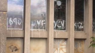 Church graffiti Pic: Brian Innes