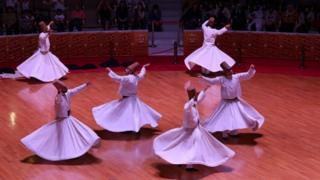 Photo of Whirling Dervishes in Konya taken in May 2015