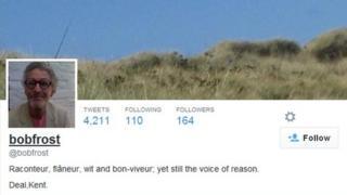 Bob Frost twitter profile