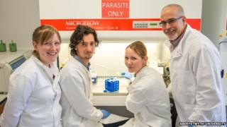 Professor Karl Hoffmann and his team
