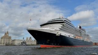 Queen Victoria leaves Liverpool