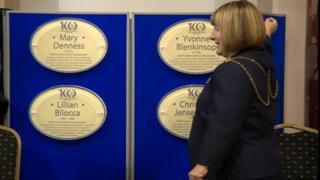 The plaque unveiling