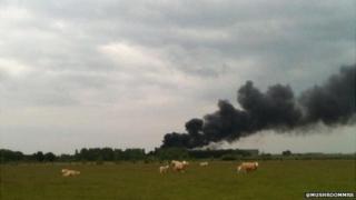 Fire at West Raynham