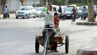 Some Indian cities have recorded temperatures approaching nearly 50C (122F)