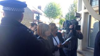 Tessa Jowell accompanies officers on a dawn raid in Newham