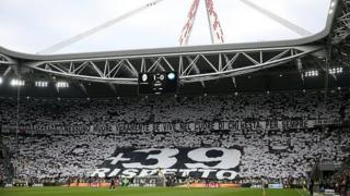 Juventus fans remember the Heysel disaster