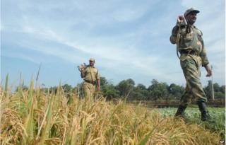 Tripura soldiers