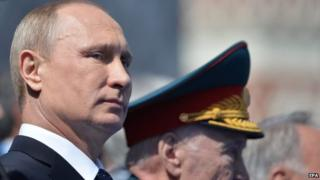 Russian President Vladimir Putin attend the Victory Day military parade in the Red Square in Moscow, Russia, 9 May 2015