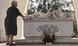 Monument to the victims of the Sant'Anna massacre in Italy
