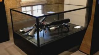 Gun exhibit in the Imperial War Museum