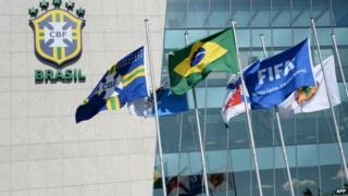 The facade of the headquarters of the Brazilian Football Confederation (CBF) at Barra da Tijuca neighbourhood in Rio de Janeiro 28 May 2015