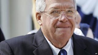 Former US House of Representatives speaker Dennis Hastert