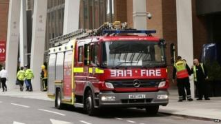 London Fire Brigade and engine