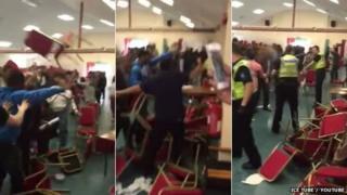 A brawl at Leeds Bangladeshi Centre