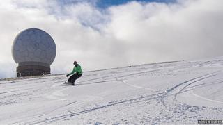 Skiing at Lowther Hill