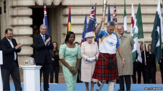 Allan Wells was the first carrier of the Queen's Baton, ahead of the Glasgow Commonwealth Games