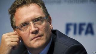 Fifa Secretary General Jerome Valcke in 2012 file image