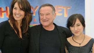 Susan Schneider, Robin Williams and Zelda Williams
