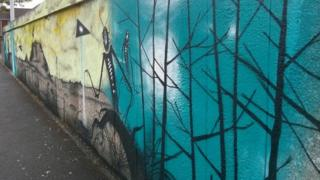 Warminster Thing mural