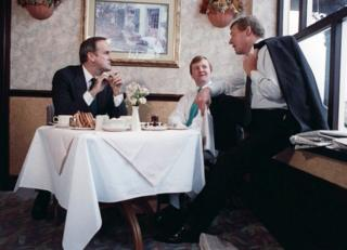 Charles Kennedy, centre, with comedian John Cleese, left, and Paddy Ashdown