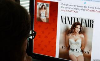 Vanity Fair cover on screen