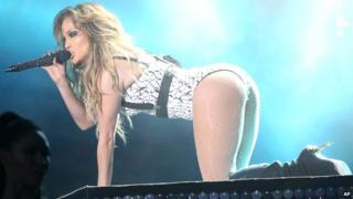 Jennifer Lopez perform on stage at Morocco's biggest music event, the Mawazine Festival, in Rabat, Morocco, Friday May 29, 2015