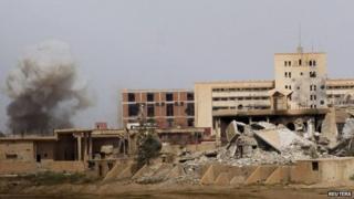 Air strike in Tikrit, Iraq (27 March 2015)