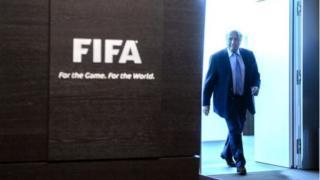 Sepp Blatter at Fifa HQ in Zurich