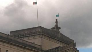 Tricolour flown above Stormont