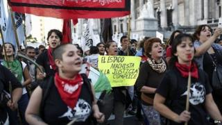 March against domestic violence in Buenos Aires. 3 June 2015