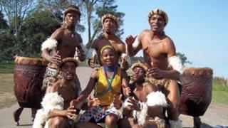 The Zulu dancers