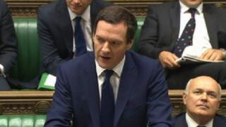 George Osborne in Parliament