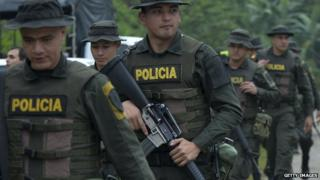 Colombian police 31 October 2014