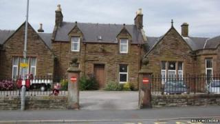The old Garrick Hospital in Stranraer ( now demolished)