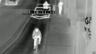 Image form the thermal detection camera