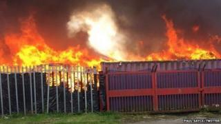 Fire in Bridgend