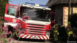 Amberley fire scene