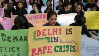 Anti-rape protest in Delhi
