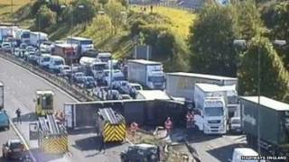 The accident on the M62