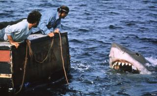 A scene from the film Jaws
