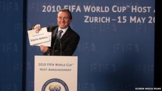 Tim Roth as Sepp Blatter