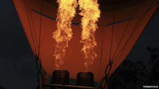 Air balloon gas burner
