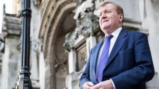 Charles Kennedy outside Westminster