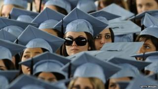 Graduates at Columbia University's 2012 commencement ceremonies.