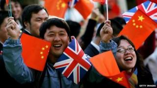Chinese supporters in London