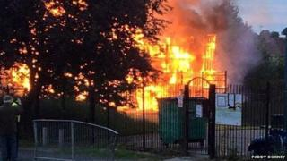 Southmead playground on fire